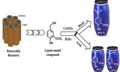 Cobalt Titanate Catayst for Oxidation of Lignin compounds